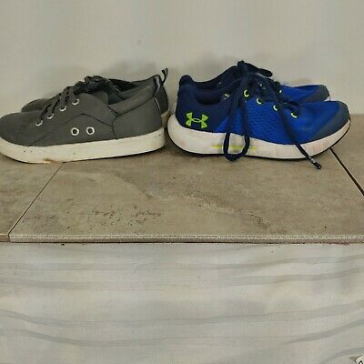 under armour  and nautica kids shoes lot size 12 set of two pair casual shoes