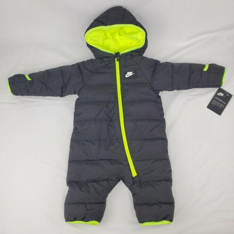 Nike Baby Boys Puffer Snowsuit Bunting Black 6 Months