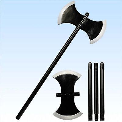 Axt, Kostüm Accessoire (Streitaxt ca 110cm Waffe Axt für Mittelalter Kostüme Ritter Kostüm Wikinger)