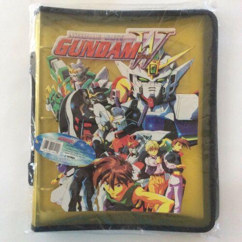 Mobile Suit Gundam Wing Trading Card Binder Zipper Closer Rare Yellow New