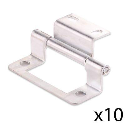 """10x CRANKED ZINC 50mm/2"""" DOUBLE FLUSH HINGE Home Cabinet/Cupboard/Wardrobe Door"""