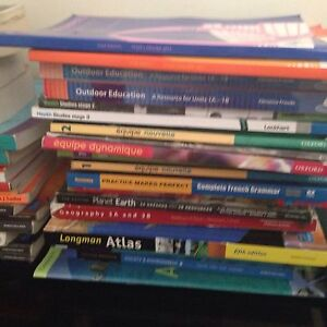 Text books  year 7-12 maths French science health geog etc Atwell Cockburn Area Preview