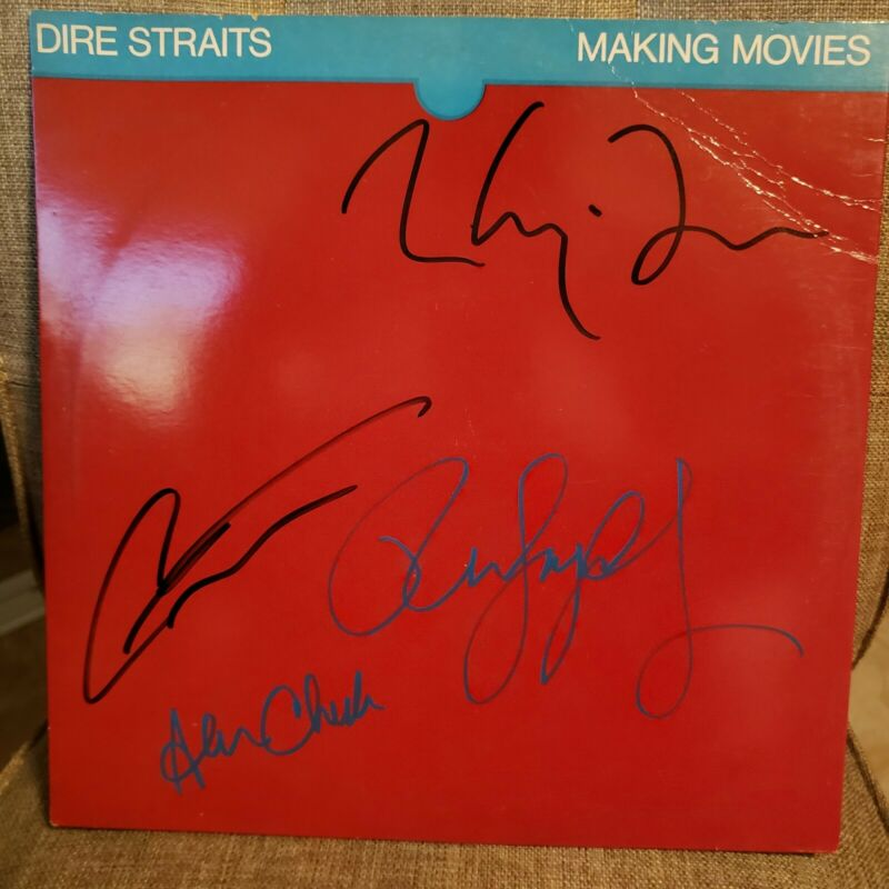 Dire Straits signed lp ***Making Moves ***1980 ** 4 members **Mark Knopfler****