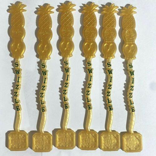 "Swizzle Stir Stick Pineapple Tiki Skull 8.5"", Dallas Texas Set of 6 New"