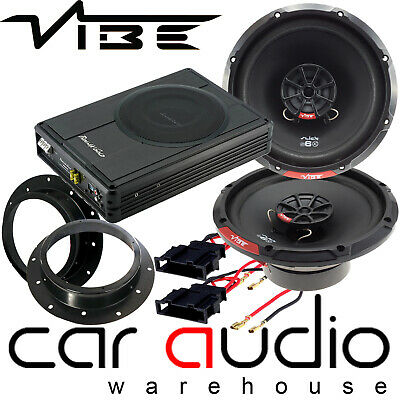 Vibe 480W Door Speakers & 300W Underseat Car Subwoofer Kit for VW...