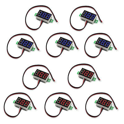 5x Mini Dc 0-30v Led 3-digital Display Voltage Voltmeter Panel Calibratable