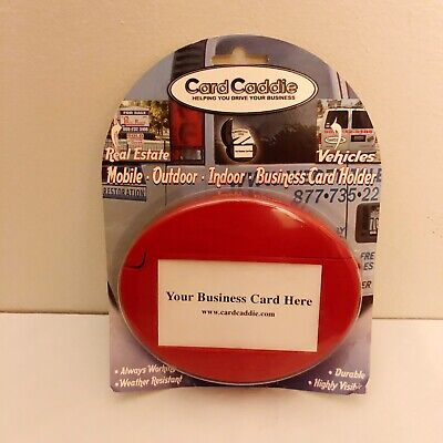 Red Car Card Caddie Outdoor Indoor Business Card Holder New Made In Usa