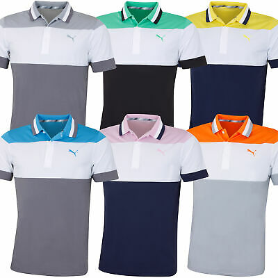 Puma Golf Mens Nineties DryCell Moisture Wicking UPF40 Polo Shirt 52% OFF RRP