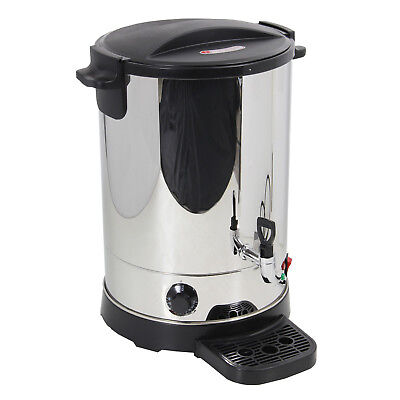 Large 20 Litre Catering Hot Water Boiler Tea Urn + Coffee - Stainless Steel