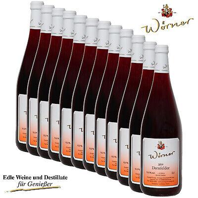 (4,38€/l) Dornfelder Rotwein lieblich 12 x 1L WEINGUT WÖRNER Wein aus der Pfalz