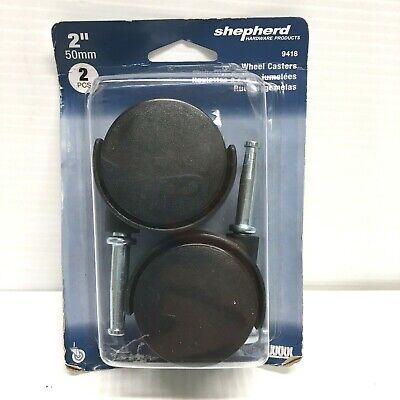 2 Black Twin Wheel Stem Casters Pack Of 2
