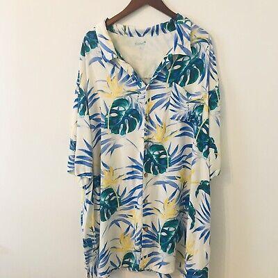KS Island Hawaian Shirt Size 4XL Short Sleeves - Hawaian Shirt