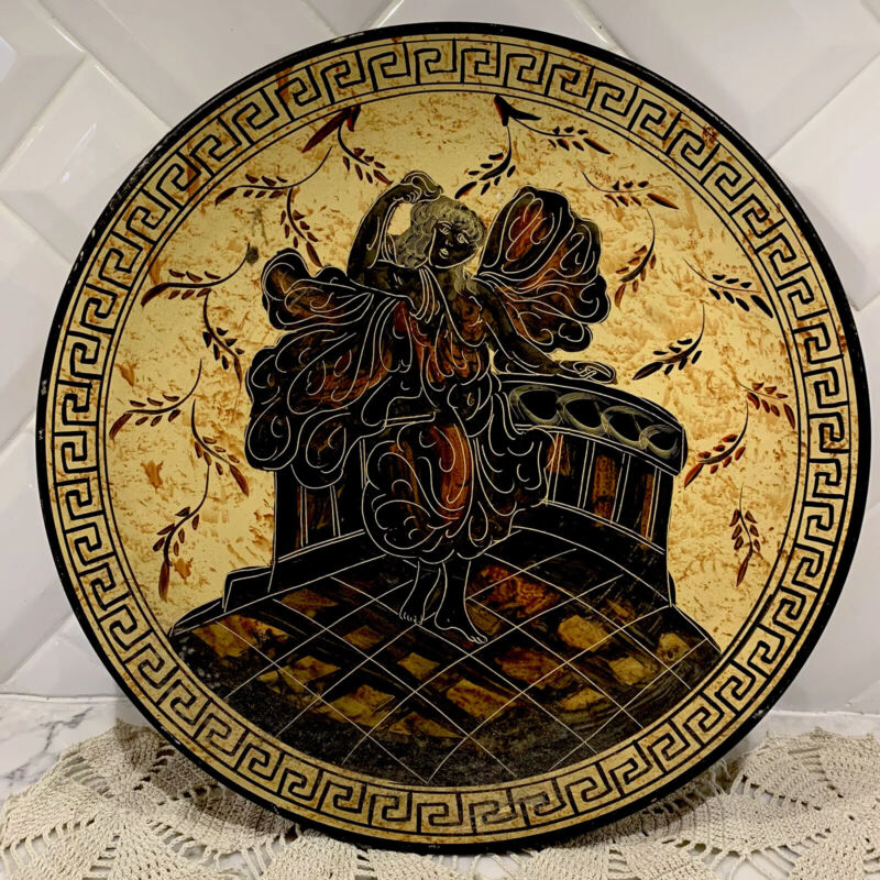 ANCIENT GREEK REPRODUCTION POTTERY PLATE Made In Greece Aphrodite 500 BC RARE