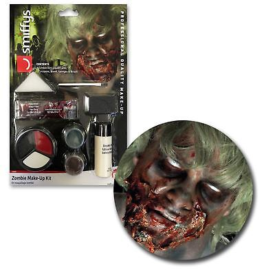 Halloween Horror Liquid Latex Blood Zombie SFX Makeup Kit Bundle Dead Cosplay