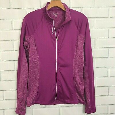 Reebok Wind Jacket Women's size Medium Full Zip Athletic Purple Pink Sweater for sale  Shipping to India