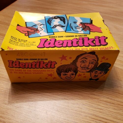 Identikit The game of a thousand faces.   Bubble gum box  with  30 packs