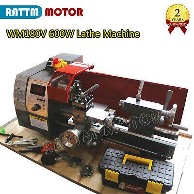 Wm180v Mini Lathe Machine Wood Metal Lathe Turning Thread W 600w Spindle Hole