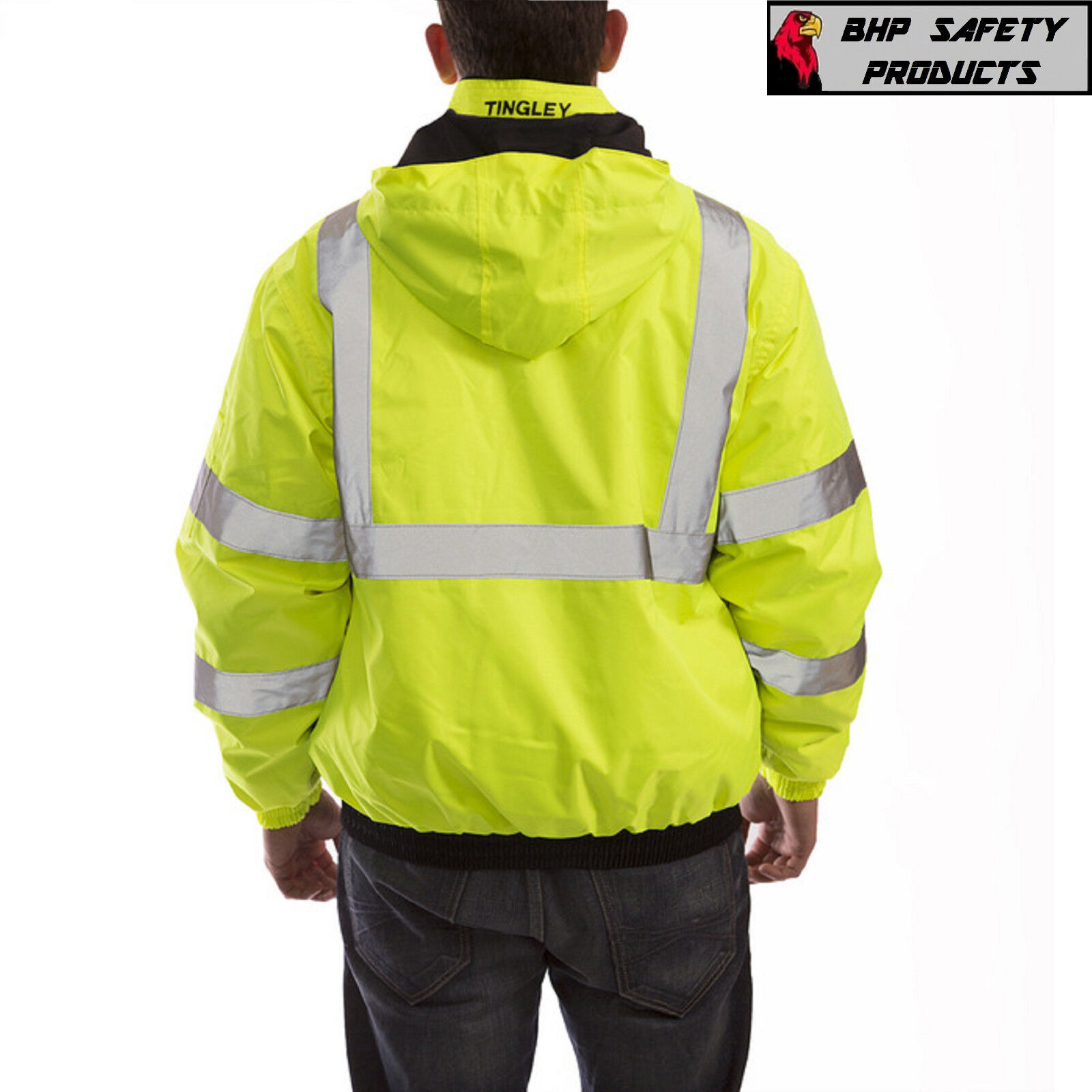 Hi-Vis Insulated Safety Bomber Reflective Jacket ROAD WORK HIGH VISIBILITY
