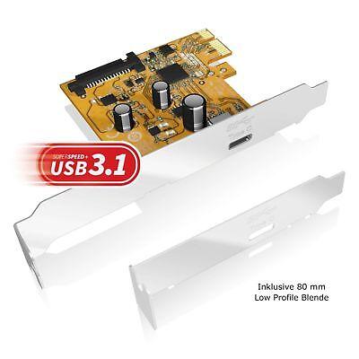 ICY BOX IB-U31-01 Typ-C / Type-C USB3.1 (Gen 2) 10Gbit/s PCI-E Erweiterungskarte