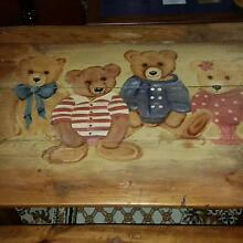CUTE CHILD'S TIMBER TABLE & BENCH SET Gawler South Gawler Area Preview