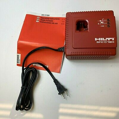 Hilti Sfc 718 Battery Charger For 7.2 To 18 Volt Batteries