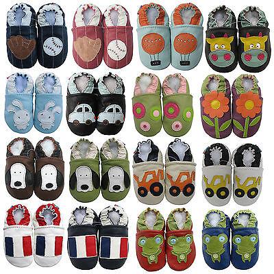 carozoo Seule chaussures de bébé en cuir souple marcheurs Pré Salé jusqu