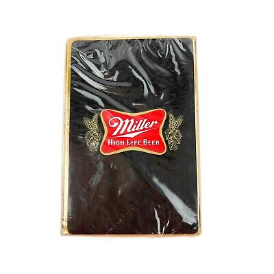 Vintage Miller High Life Beer Playing Cards - New - Sealed Pack - Plastic Coated