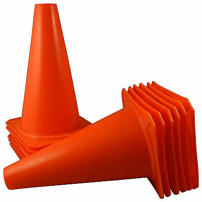 "9"" inch Orange Cones Sport Agility Traffic Field Soccer Football Training QTY 12"