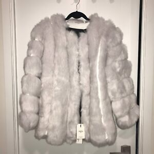BRAND NEW FAUX FOX JACKET