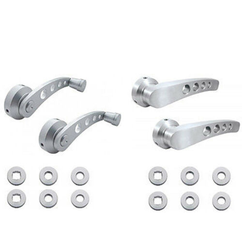 Interior Aluminum Billet Door Handles Window Knob Cranks Set Fits Dodge Truck