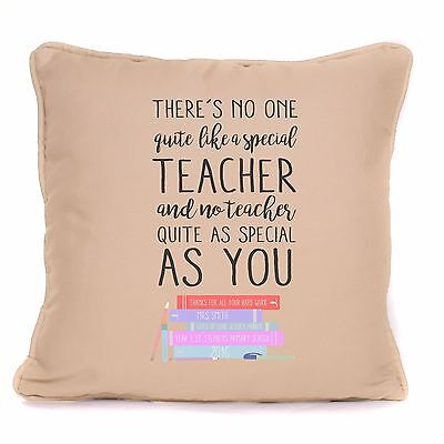 Personalised Thank You Teacher Gift For End Of Term Cushion With Pad Included