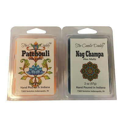 Nag Champa Patchouli Pair Combo Incense Wax Melts Tarts tart/oil warmer NEW