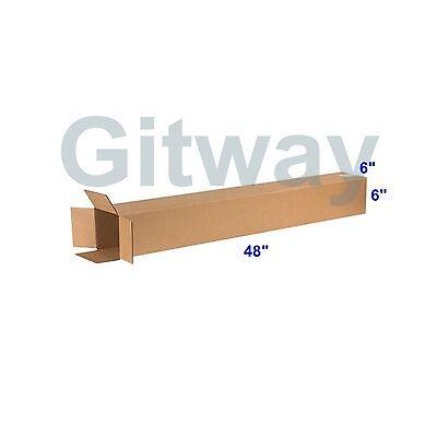 25 Pc 6x6x48 Tall Long Cardboard Shipping Golf Club Driver Pole Box Boxes 48x6x6