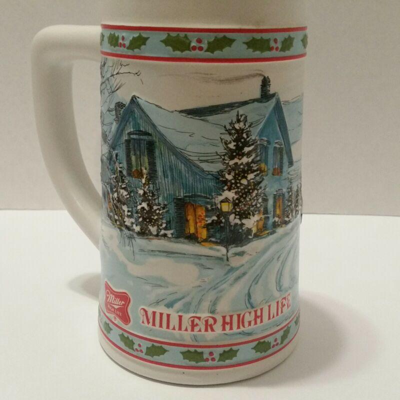 Miller High Life Limited Edition Holiday Christmas Sleigh Mug Beer Stein
