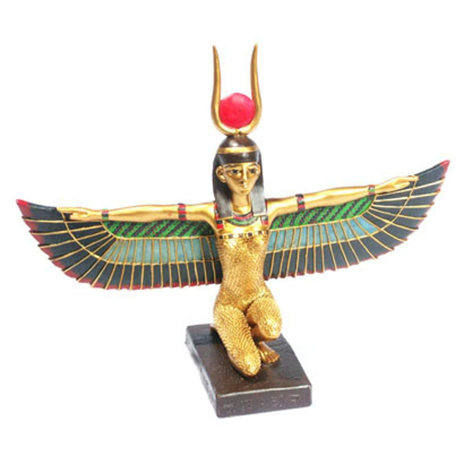 Ancient Egypt Egyptian Gift Kneeling Isis Figure with Wings Outstretched
