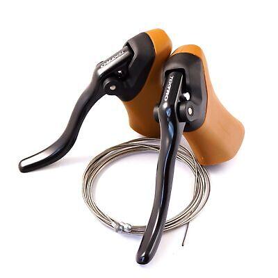 Tektro RL340 Brown Gum Aero Road Bike Brake Black Lever 800/2000mm Cable Gum/Blk