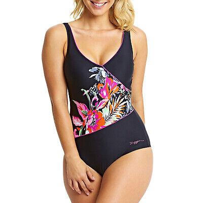 Zoggs Damen Latino Love Schwimmbad Einteiler Front Wickel Kostüm - Latino Kostüm