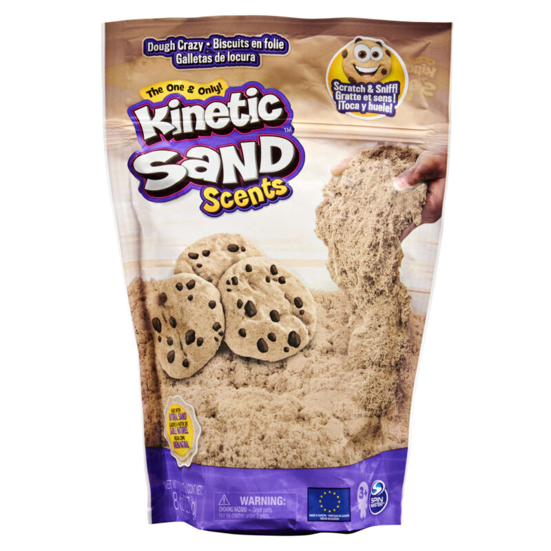 Kinetic Sand Scents 8oz Light Brown Dough Crazy Scented Kinetic Sand