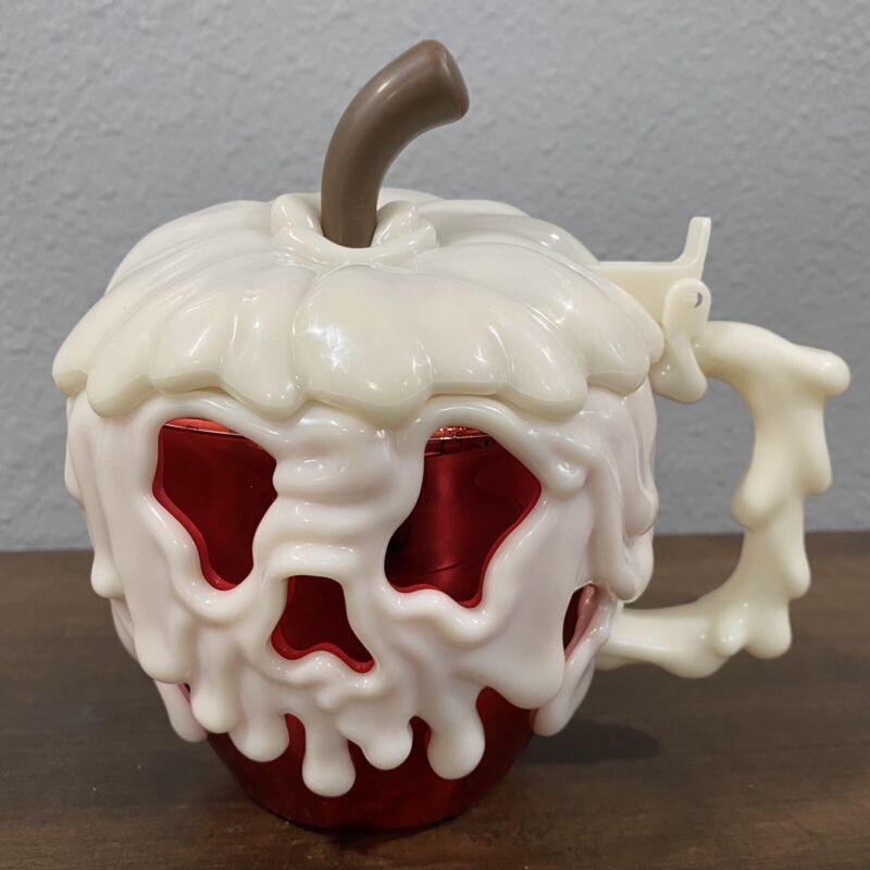 Disneyland Red Metallic Poison Apple Glow in the Dark Stein Mug Cup 2021