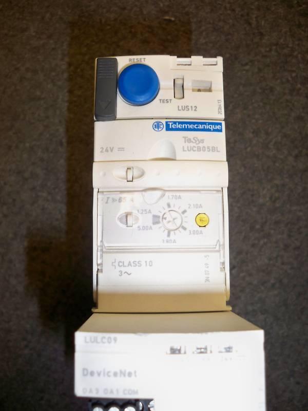 Telemecanique LUS12 & LUCB05BL & LULCOP Motor Starter w/ DeviceNet Used