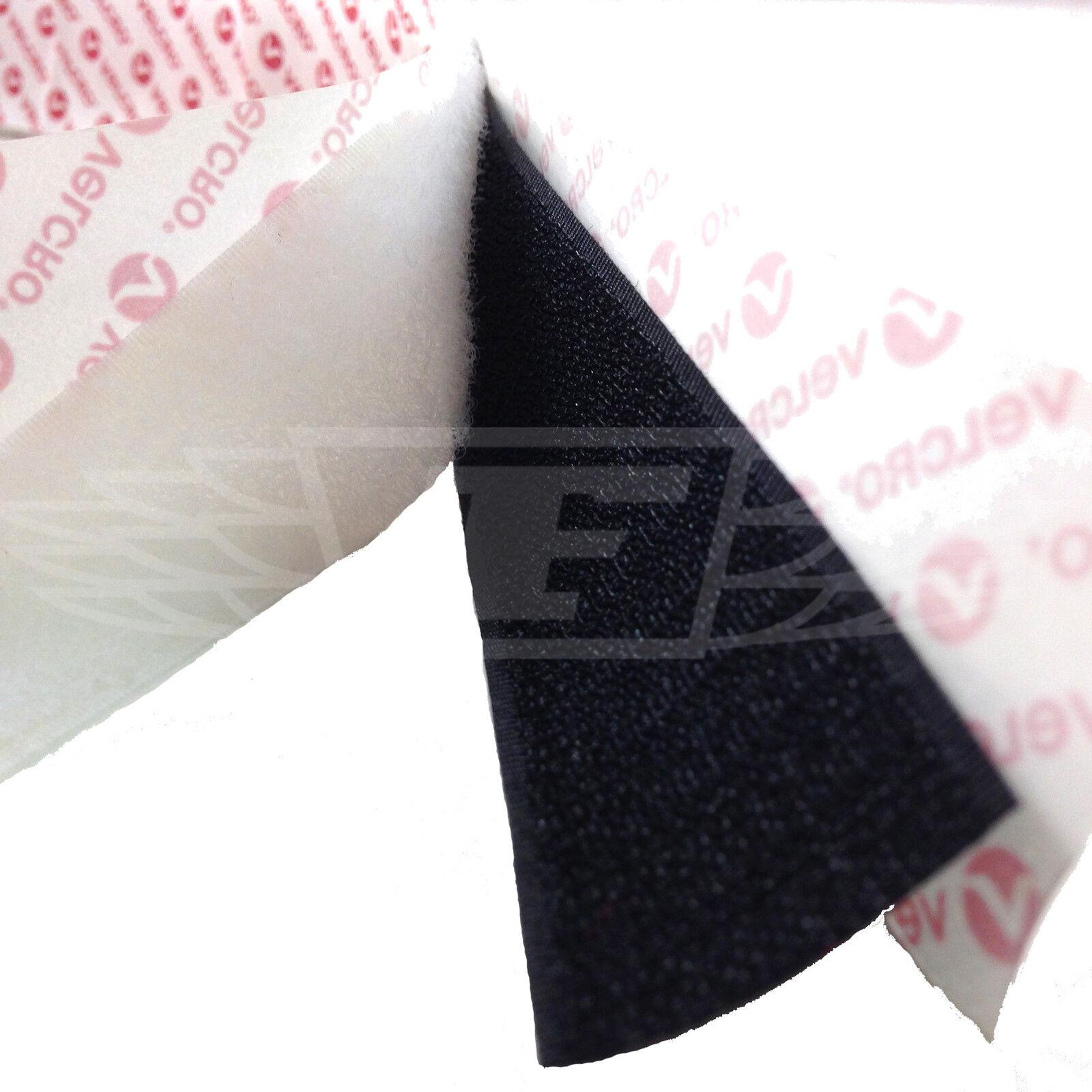 Velcro® Brand Black Hook /& Loop Tape Self Adhesive 10mm 16mm 20mm 25mm 50mm PS14