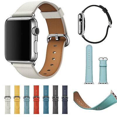 Genuine Leather Watch Strap Bracelet Wrist Band For Apple Watch 1/2/3/4 40/44mm
