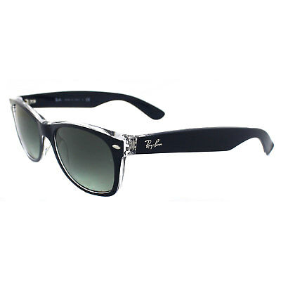 Ray-Ban Sunglasses New Wayfarer 2132 605371 Blue Transparent Grey Gradient (Wayfarer Sonnenbrille Blues)
