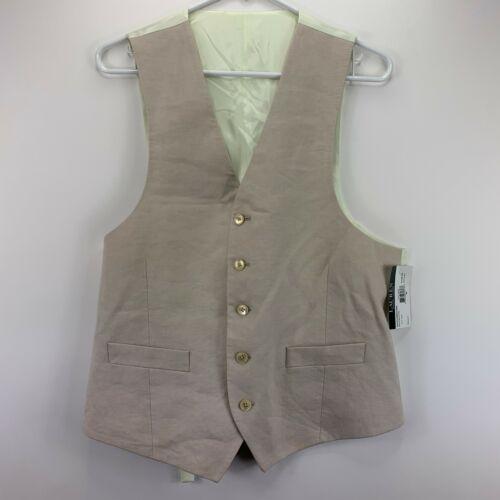 Lauren Ralph Lauren Mens Hitchcock Linen Suit Vest Beige M