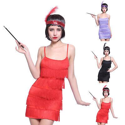 Frauenkostüm Charleston 20er Jahre Paillettenkleid Jazz Kleid Halloween Carneval