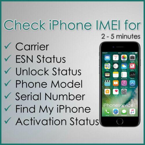 FAST iPhone info Check - IMEI / Carrier / Sim Lock Status / ESN Status