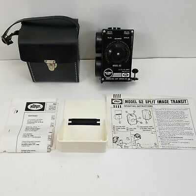 Vintage Hoppy Split Image Transit Level Hoppy Model G2 With Case Instruction