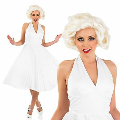 Ladies 1950s Hollywood Movie Film Star Free Blonde Wig Fancy Dress Costume (Hollywood Star Fancy Dress Kostüme)