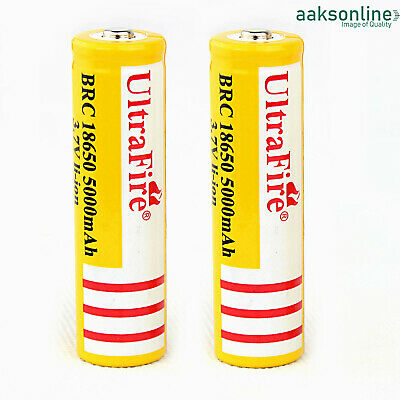 2x 5000 mAh AKKU Typ 18650 Lithium Accu Wiederaufladbar Batterie 3,7 V Li-ion  - 18650 Lithium-batterie