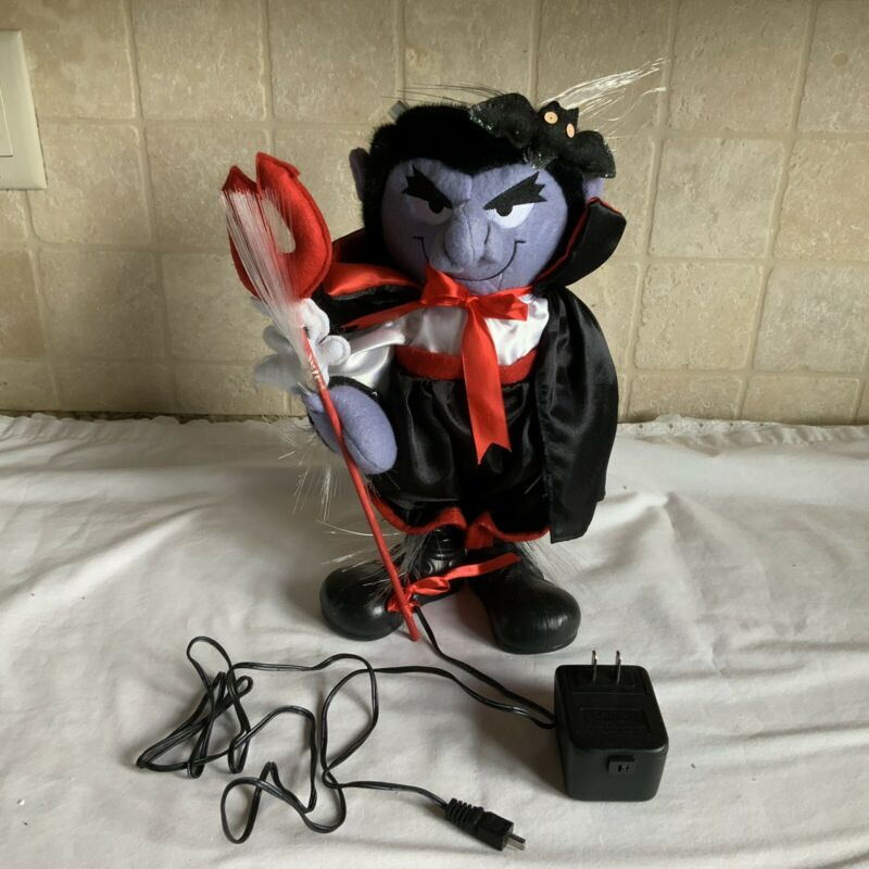 "Halloween Decoration Fiber Optic Vampire 12"" In Box"